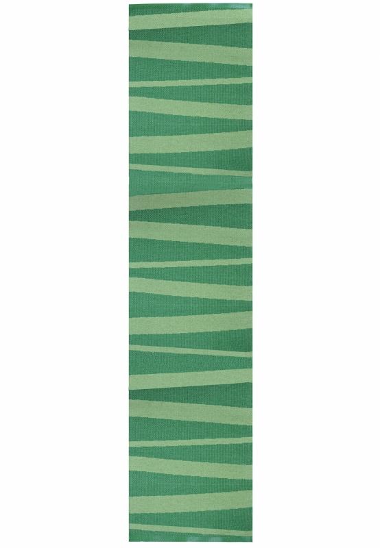 Grüner Läufer mit Streifen